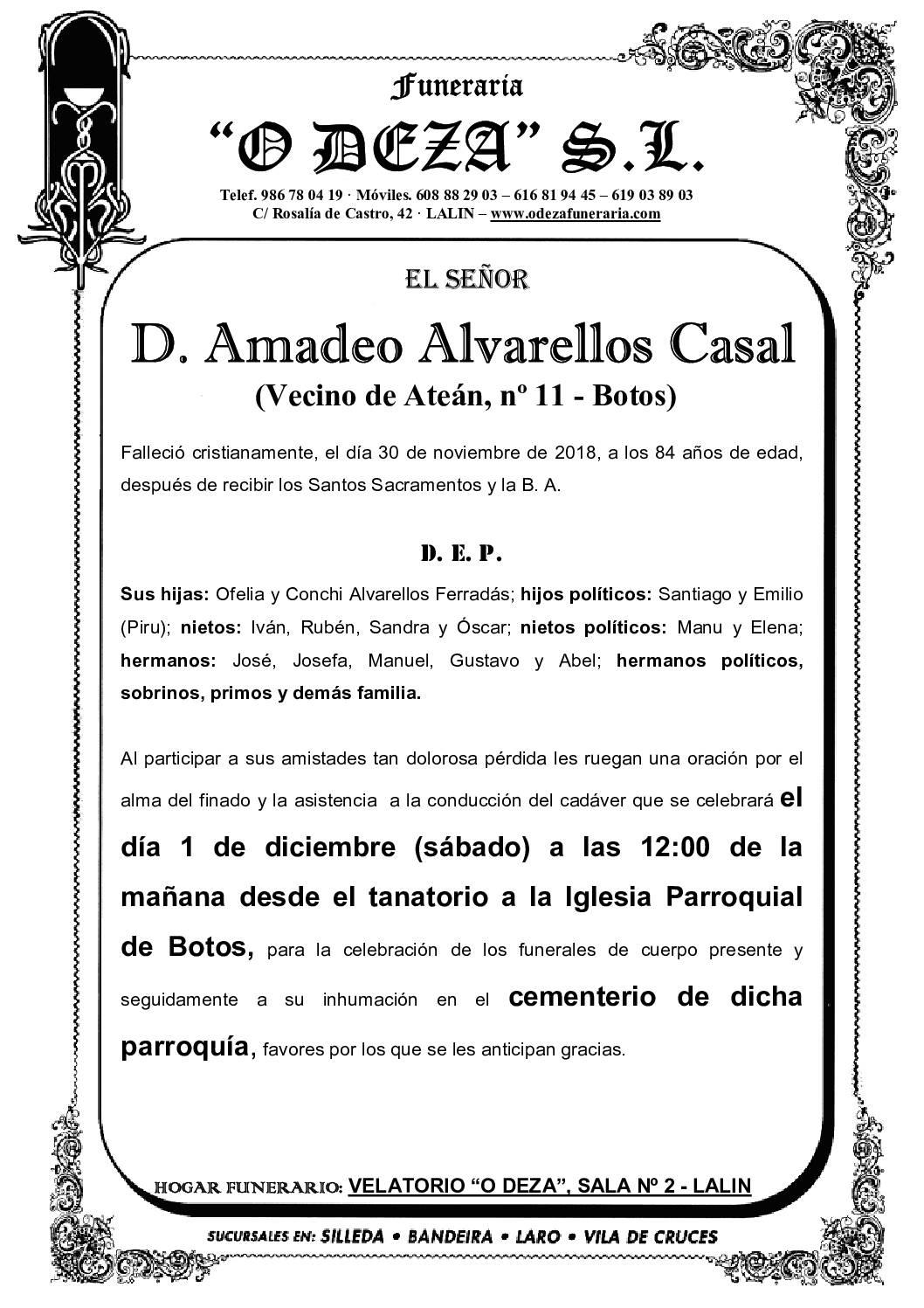 D. AMADEO ALVARELLOS CASAL