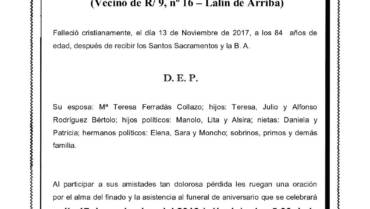 D. DANIEL RODRÍGUEZ CALVIÑO