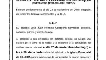 DÑA. Mª DE LAS MERCEDES RIVAS LÓPEZ