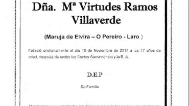 DÑA. Mª VIRTUDES RAMOS VILLAVERDE