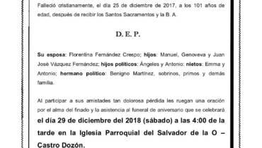 D. ANDRÉS VÁZQUEZ FERNÁNDEZ