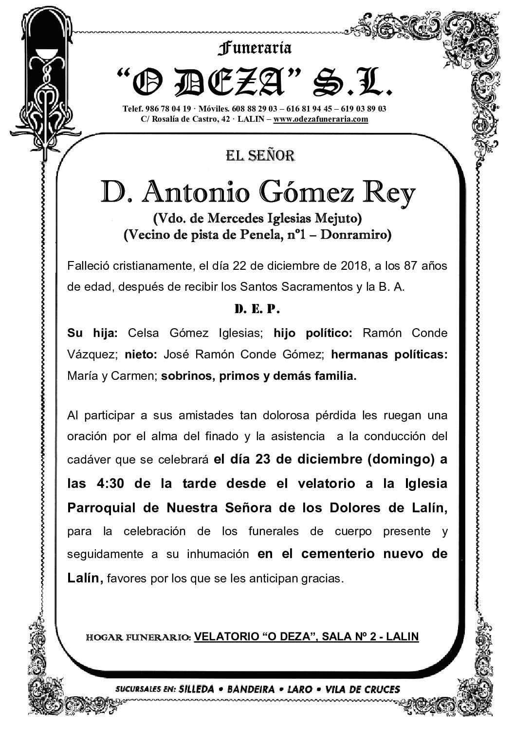 D. ANTONIO GÓMEZ REY