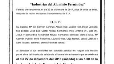 D. EMILIO FERNÁNDEZ NÓVOA