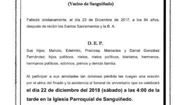 D. EULOGIO GONZÁLEZ FERNÁNDEZ