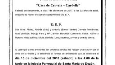 DÑA. Mª ADELAIDA FERNÁNDEZ GARCÍA