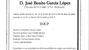 D. JOSÉ BENITO GARCÍA LÓPEZ