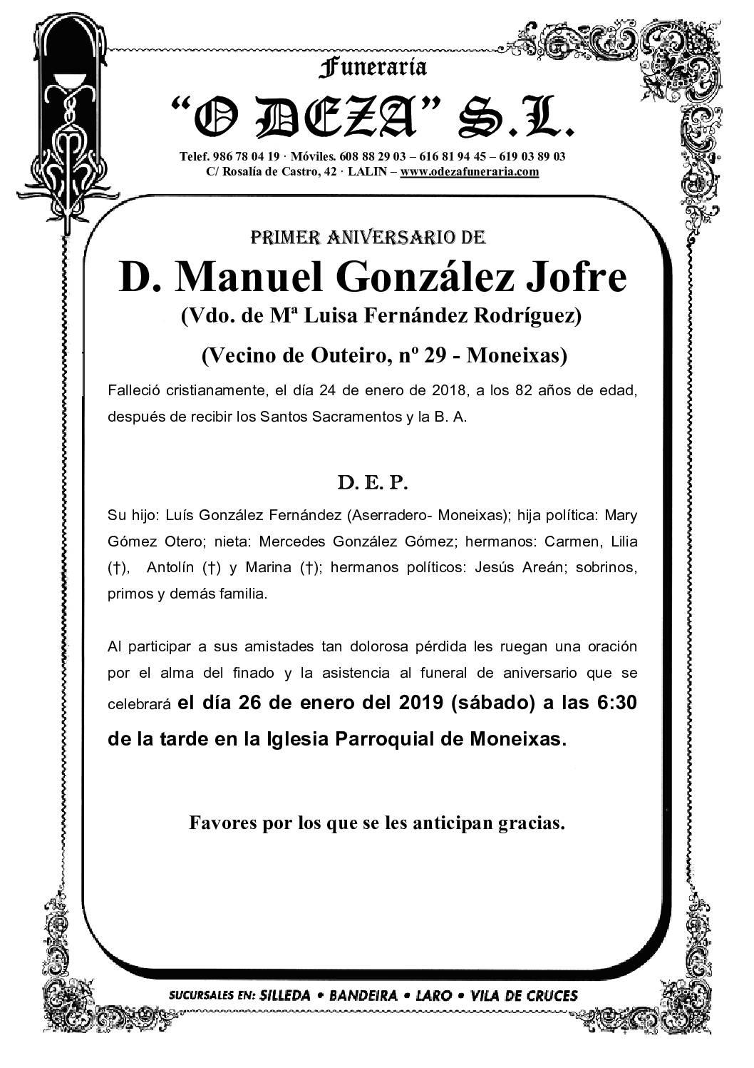 D. MANUEL GONZÁLEZ JOFRE