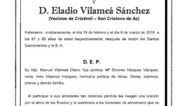 DÑA. ALICIA OTERO GONZÁLEZ Y D. ELADIO VILAMEÁ SÁNCHEZ