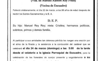 DÑA. CARMEN REY FERNÁNDEZ