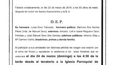 D. AMADOR DURO TABOADA