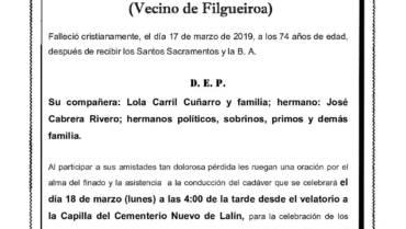 D. FRANCISCO CABRERA RIVERO