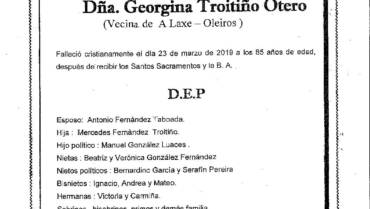 DÑA. GEORGINA TROITIÑO OTERO