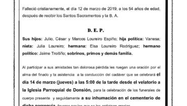 D. JESÚS LOUREIRO RODRÍGUEZ