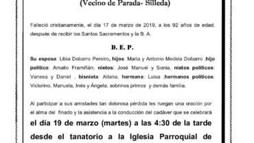 D. EDESIO MEDELA SANTOMÉ