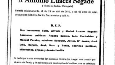 D. ANTONIO LUACES SEGADE