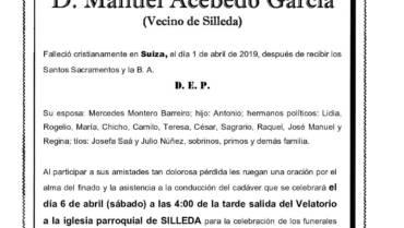 D. MANUEL ACEBEDO GARCÍA