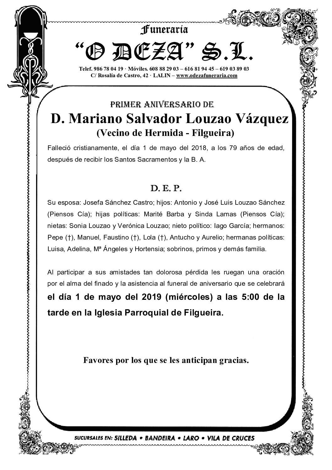 D. MARIANO SALVADOR LOUZAO VÁZQUEZ