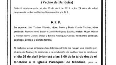 D. RAMÓN CONDE REY