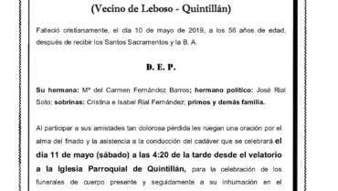 D. FRANCISCO FERNÁNDEZ BARROS