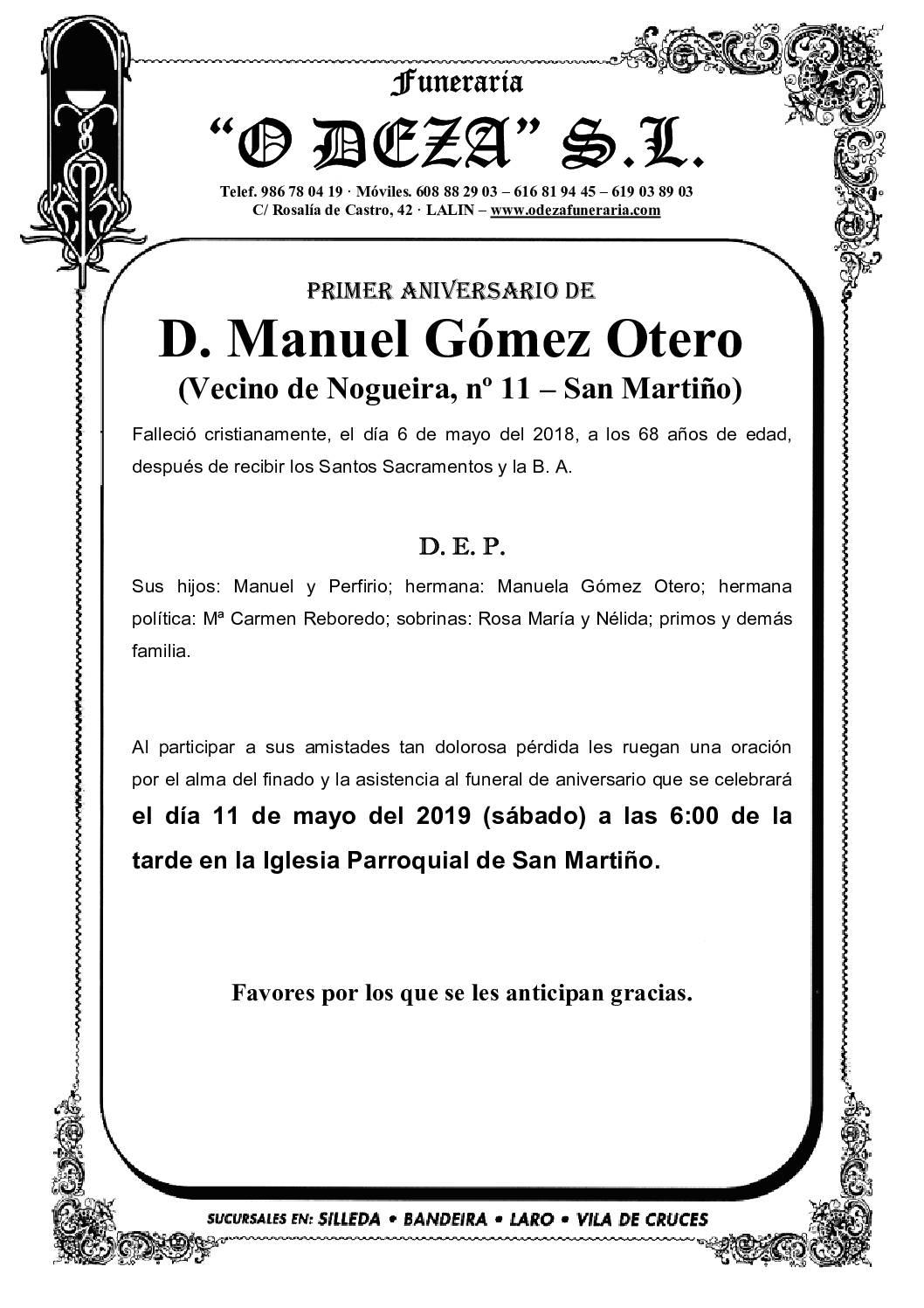 D. MANUEL GÓMEZ OTERO