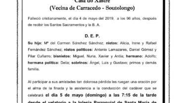 DÑA. SERGIA SÁNCHEZ VARELA