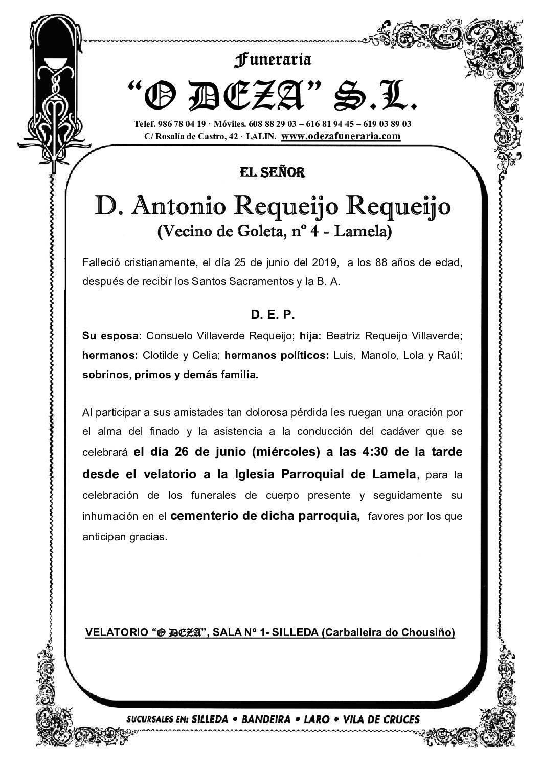 D. ANTONIO REQUEIJO REQUEIJO
