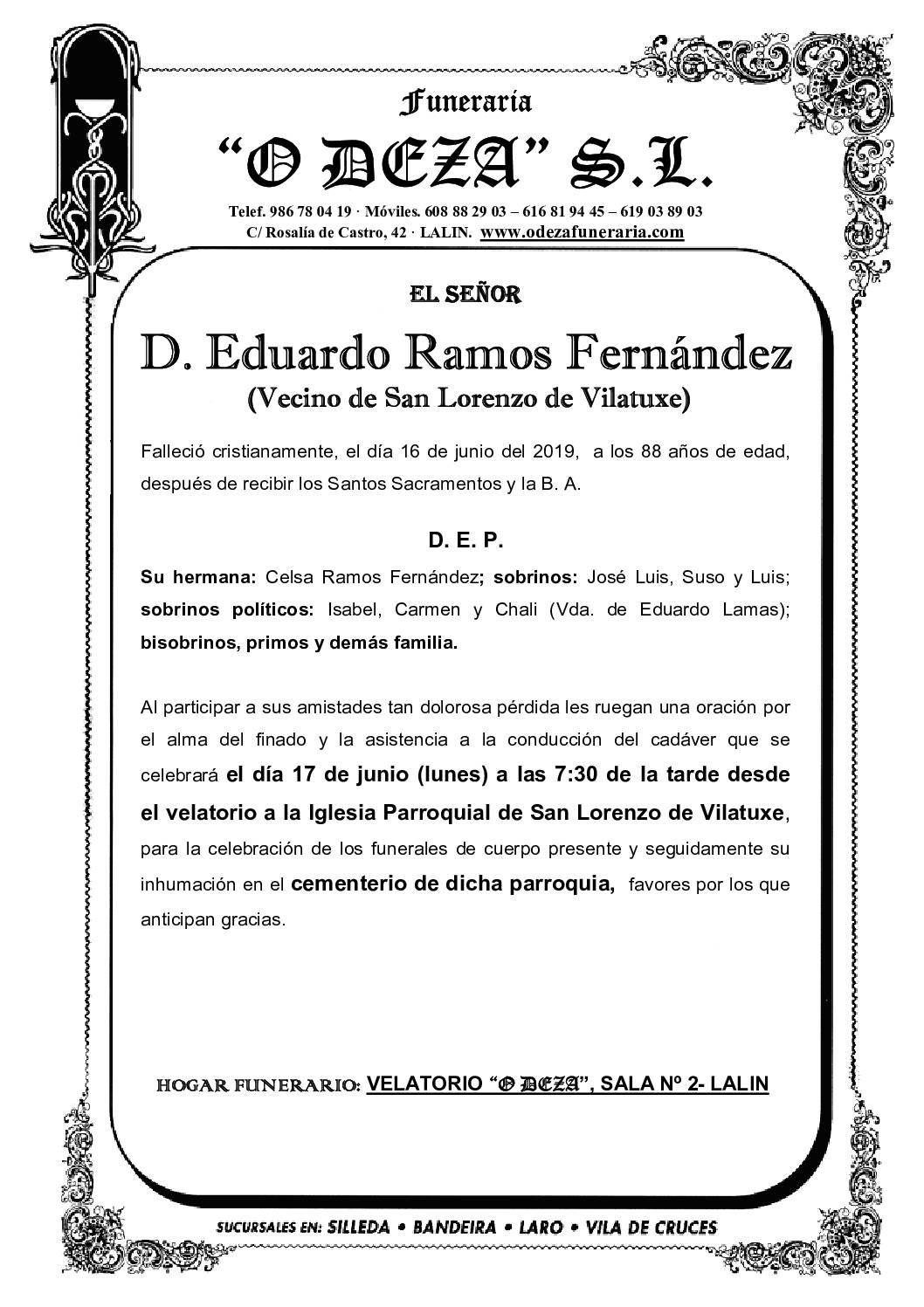 D. EDUARDO RAMOS FERNÁNDEZ
