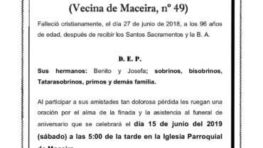 DÑA. MELIQUINA LÓPEZ FERREIRO