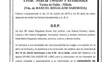 DÑA. MARÍA SOUTO FERNÁNDEZ
