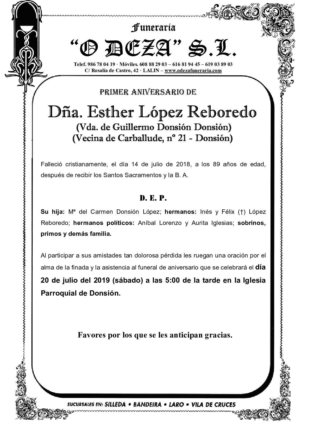 DÑA. ESTHER LÓPEZ REBOREDO