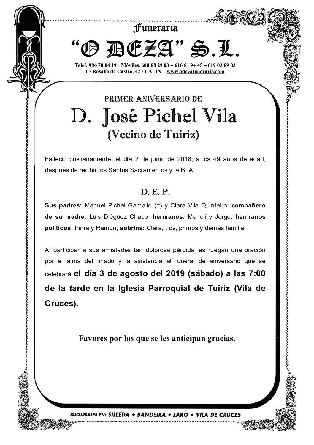 D. JOSÉ PICHEL VILA