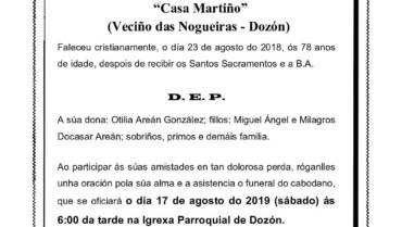 D. PEDRO DOCASAR FERNÁNDEZ