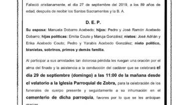 D. RAMÓN ACEBEDO GUERRA