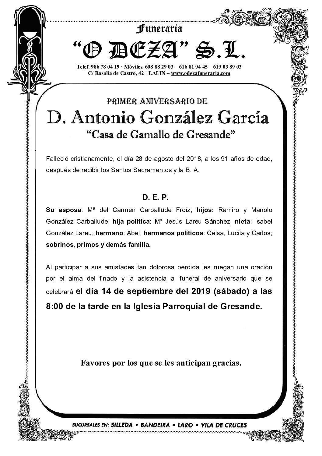 D. ANTONIO PEREIRO BLANCO