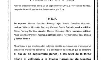 DÑA. Mª DEL CARMEN GONZÁLEZ CANDA