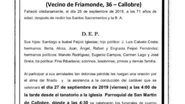D. SANTIAGO V. FEIJOÓ FERNÁNDEZ