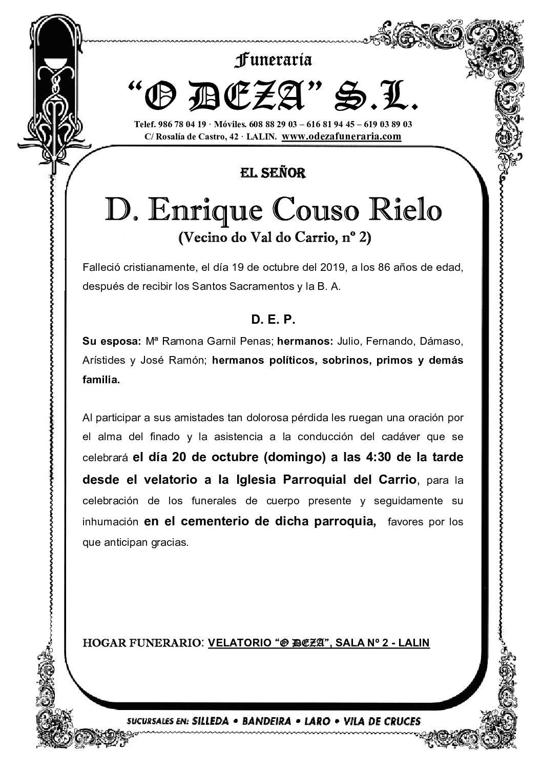 D. ENRIQUE COUSO RIELO