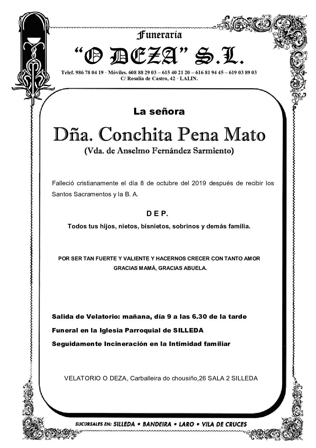 DÑA. CONCHITA PENA MATO
