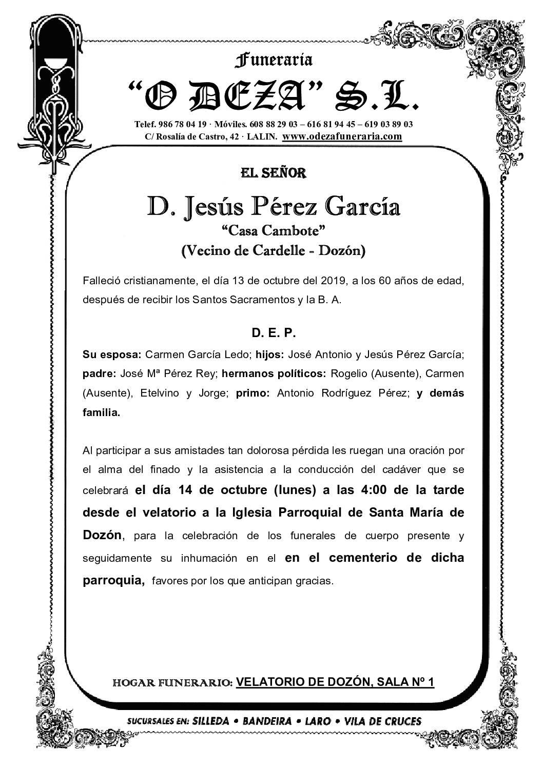 D. JESÚS PÉREZ GARCÍA