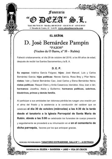 D. JOSÉ BERNÁRDEZ PAMPÍN