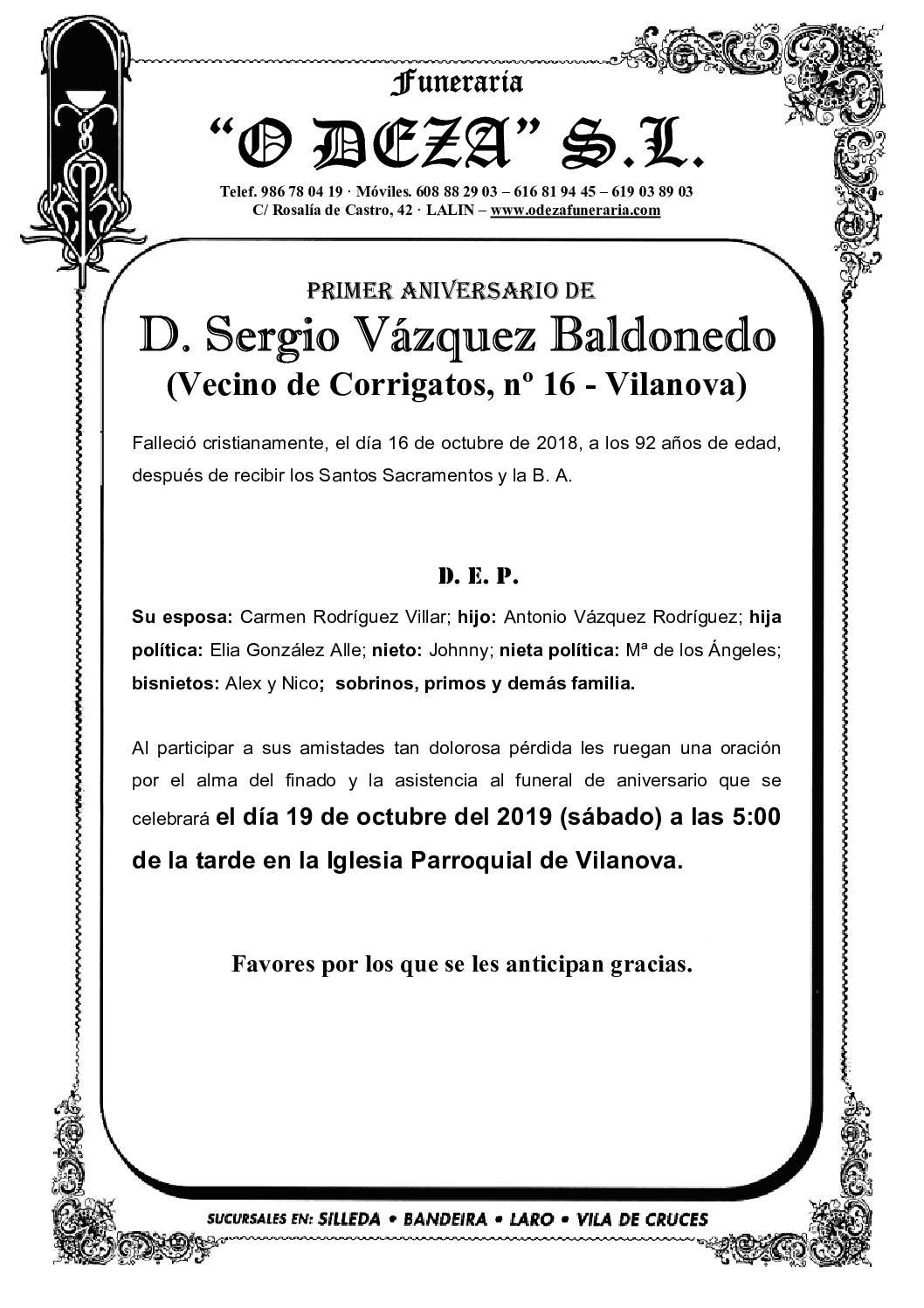 D. SERGIO VÁZQUEZ BALDONEDO