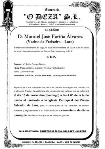 D. MANUEL JOSÉ FARIÑA ÁLVAREZ