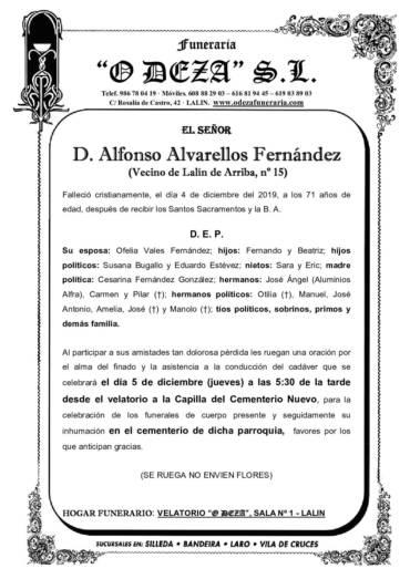 D. ALFONSO ALVARELLOS FERNÁNDEZ