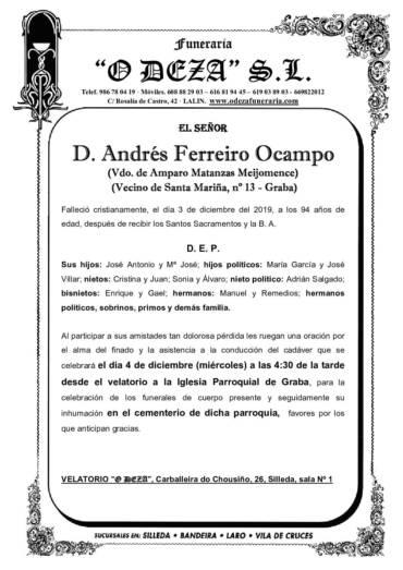 D. ANDRÉS FERREIRO OCAMPO