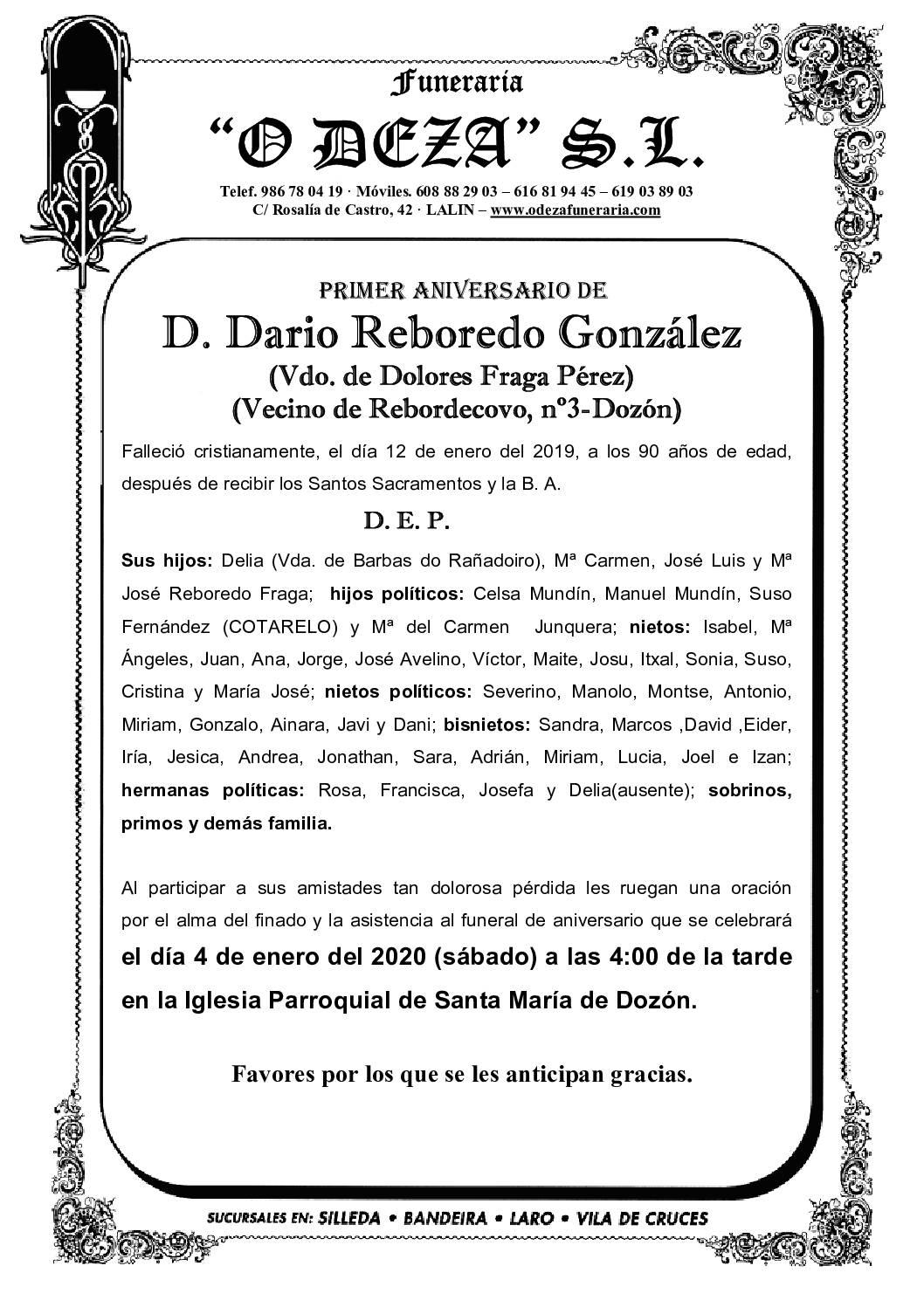 D. DARIO REBOREDO GONZÁLEZ