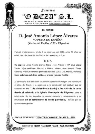 D. JOSÉ ANTONIO LÓPEZ ÁLVAREZ