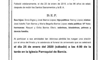 D. SEGUNDO BARROS OTERO