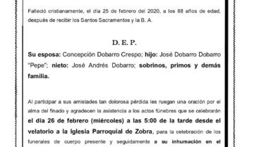 D. JOSÉ DOBARRO CANABAL