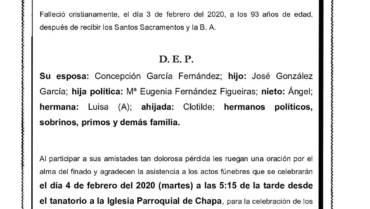 D. MANUEL GONZÁLEZ SEOANE