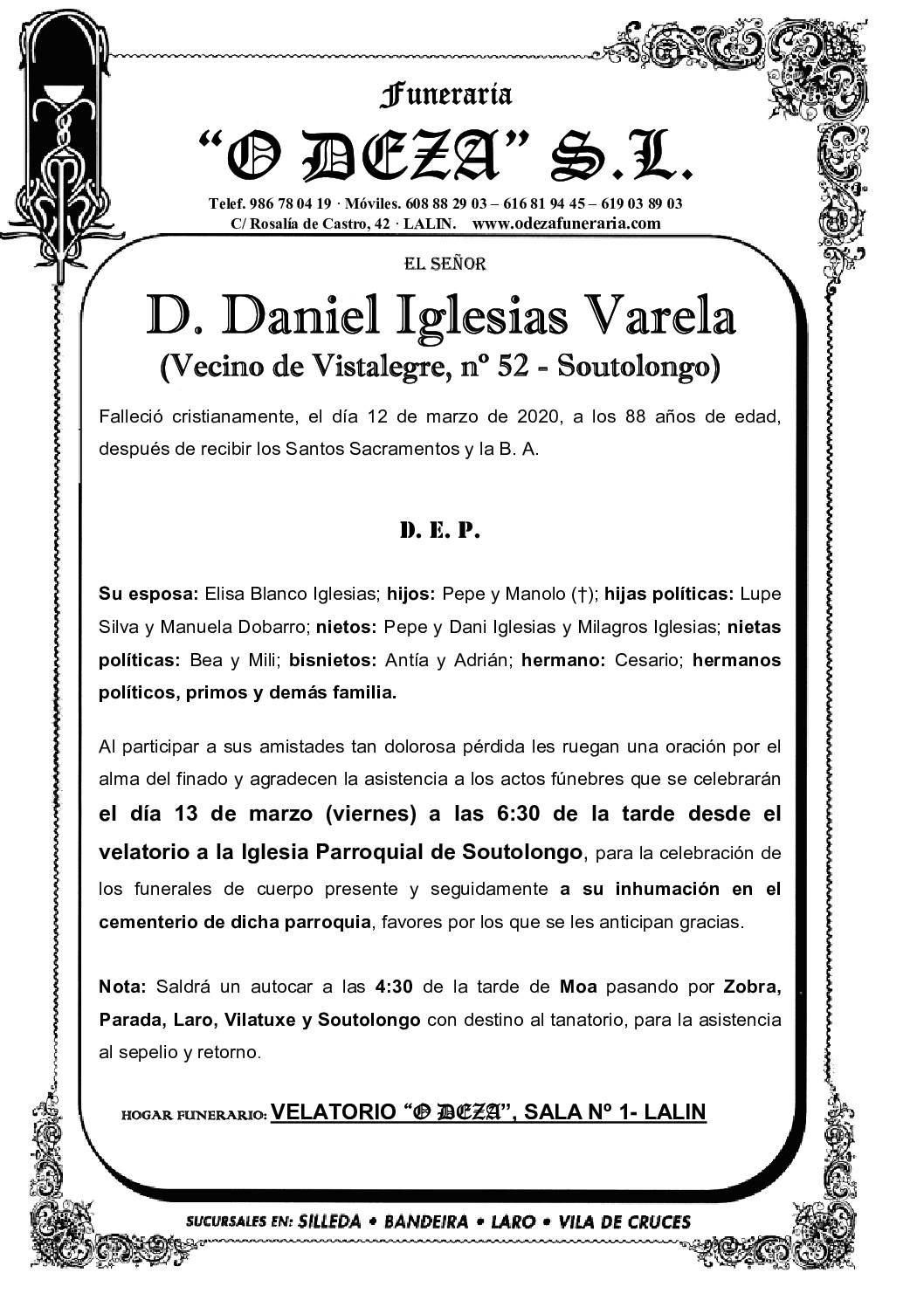 D. DANIEL IGLESIAS VARELA